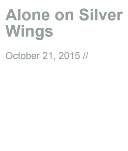 Alone on Silver Wings